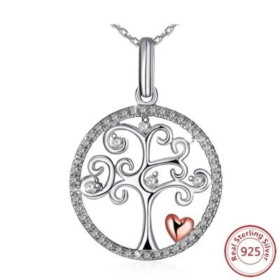 Tree of Life Necklace - Rose Gold Heart