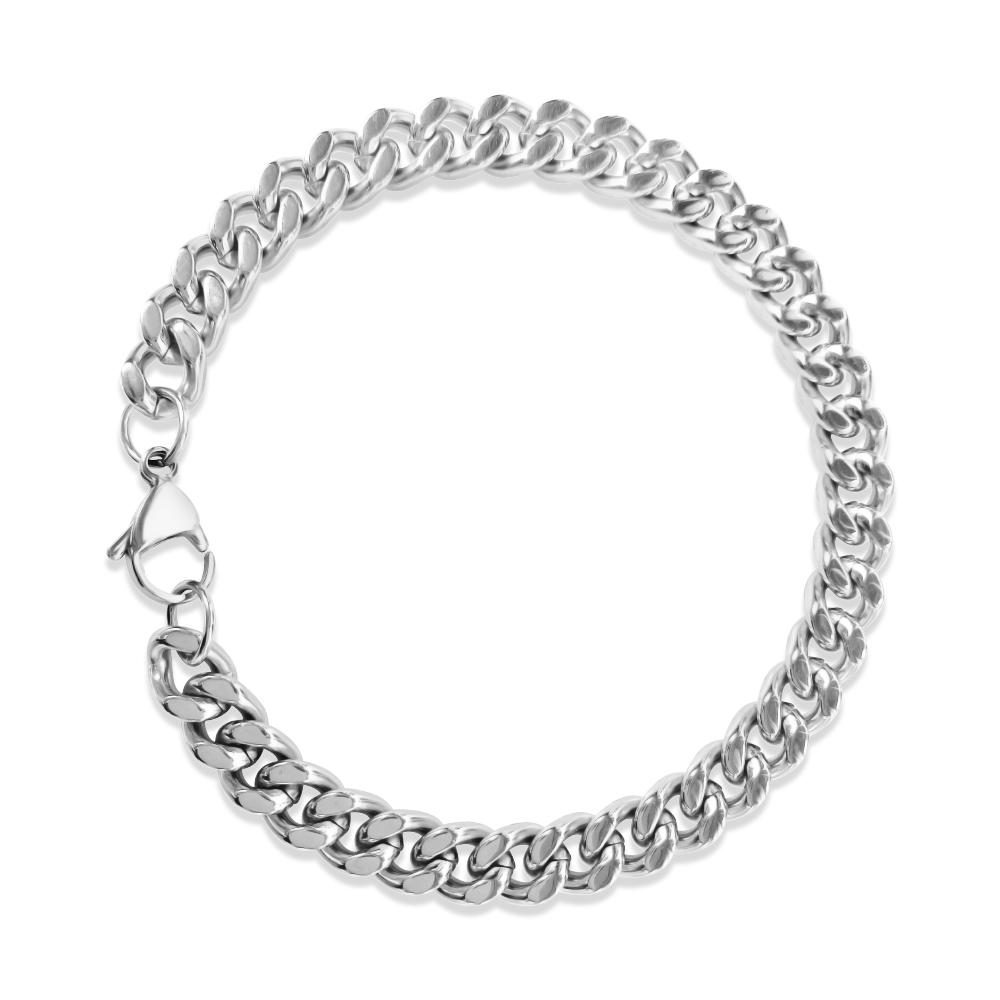 Mens Silver Bracelet ice
