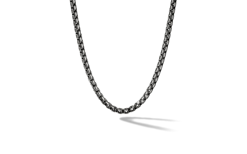 Mens Chain Necklace – Gunmetal Style, 2.8mm Width