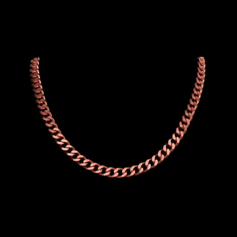 Mens Rose Gold Necklace