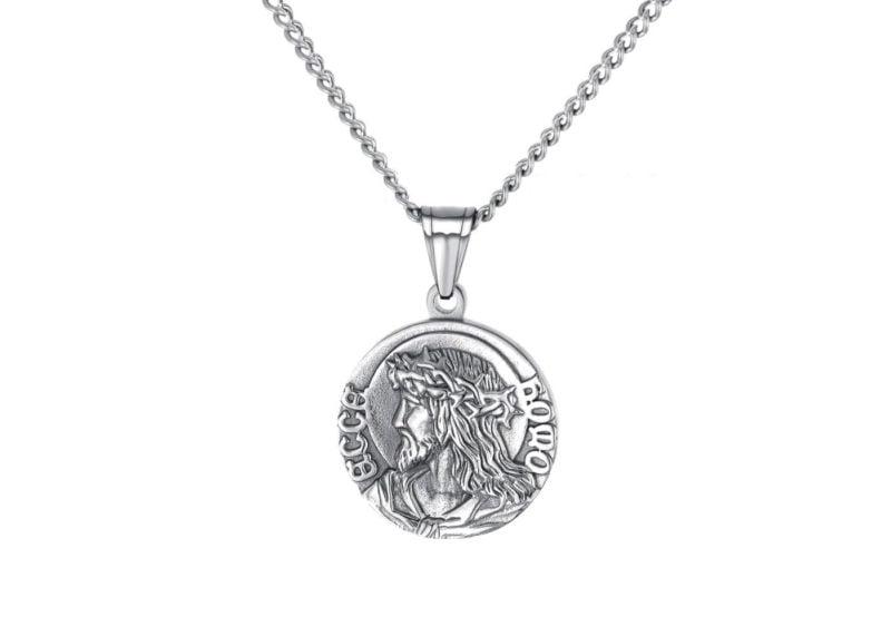 Mens Zeus© Pendant Necklace Silver