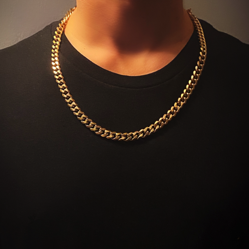 Curb Necklace - Gold - Lava II