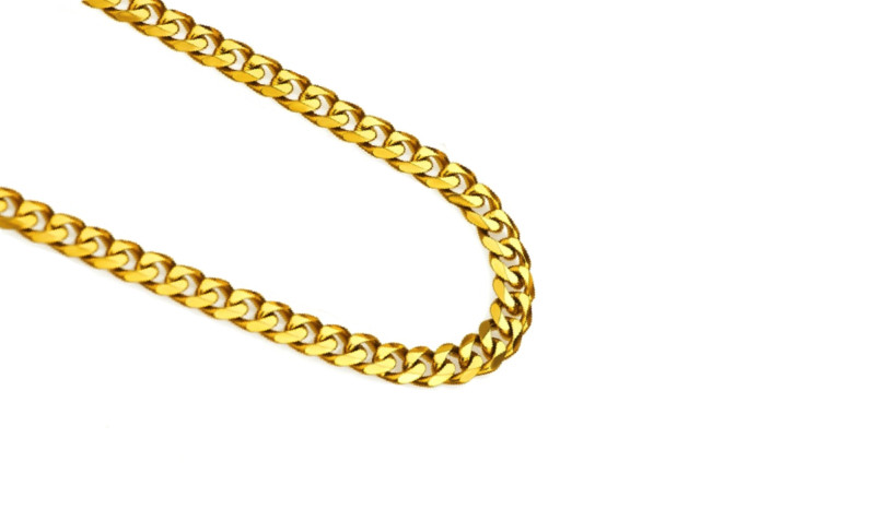 Women's Gold Chain Necklace Curb Style, 7mm Width – Lava©