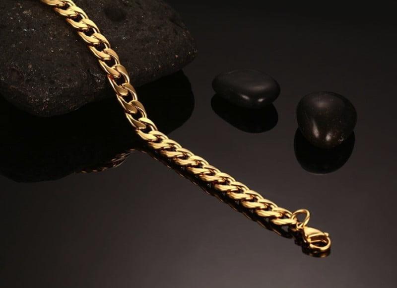 Gold Cuban Bracelet