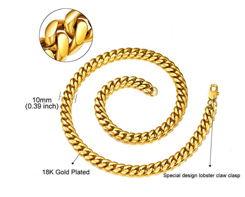 Gold Necklace Lava II