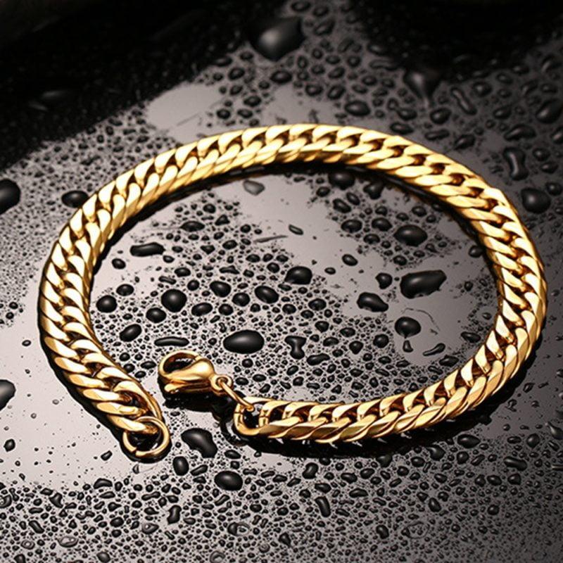 Mens Gold Bracelet Deluxe