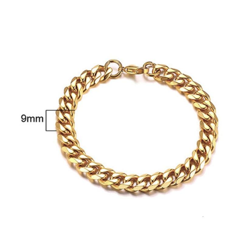 Mens Gold Bracelet - Lava II