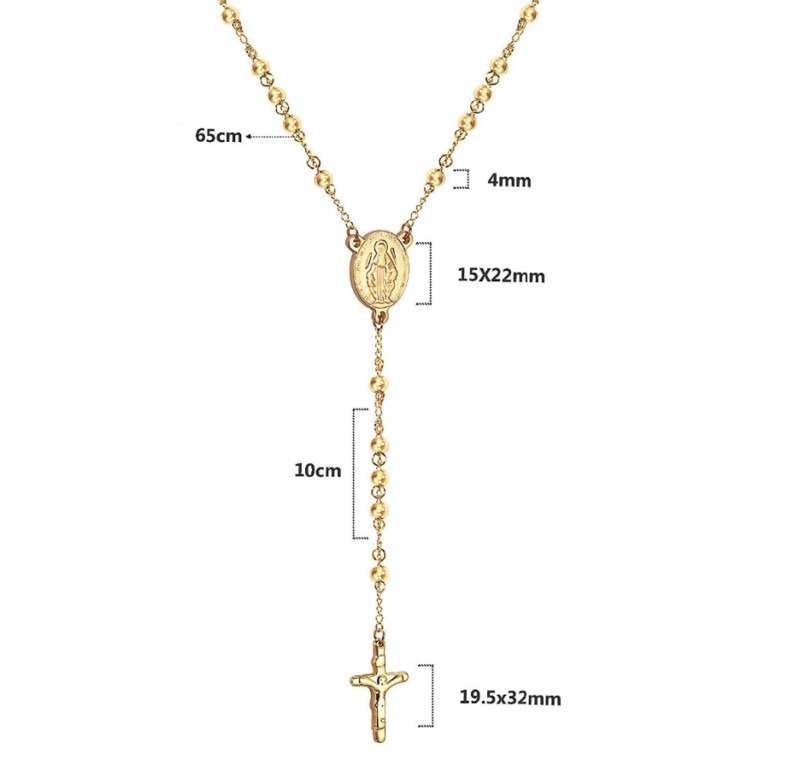 Mens Cross Necklace Gold