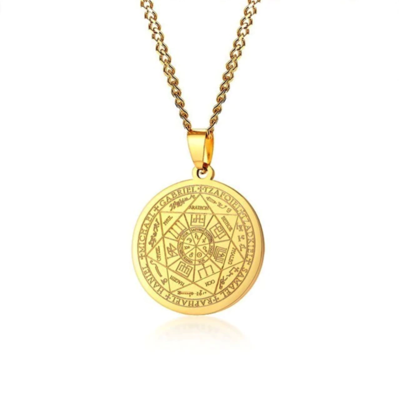 Men's Pendant Necklace – Gold – Seven Archangels©