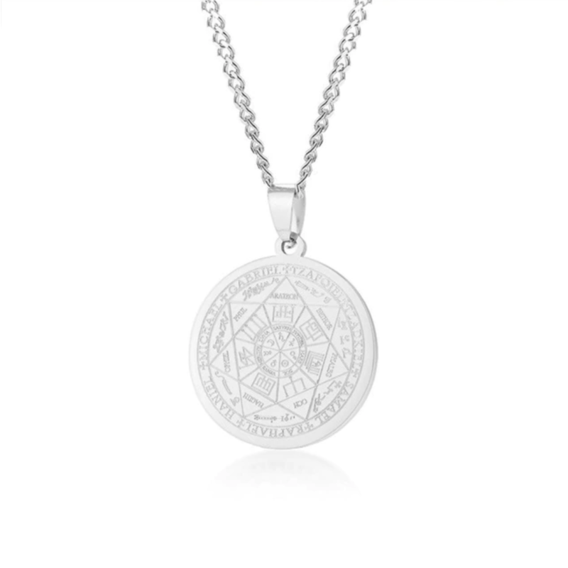 Men's Pendant Necklace – Silver – Seven Archangels©