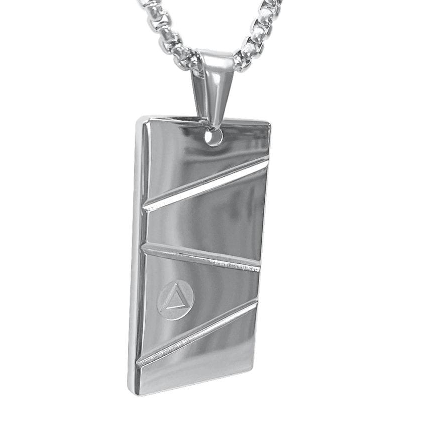 mens silver pendant necklace