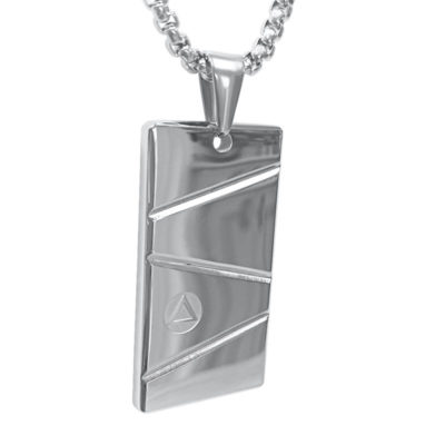 mens silver pendant necklace