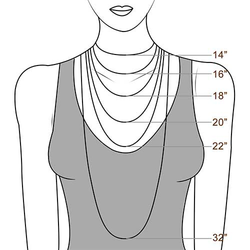 Ladies Necklace Size Guide