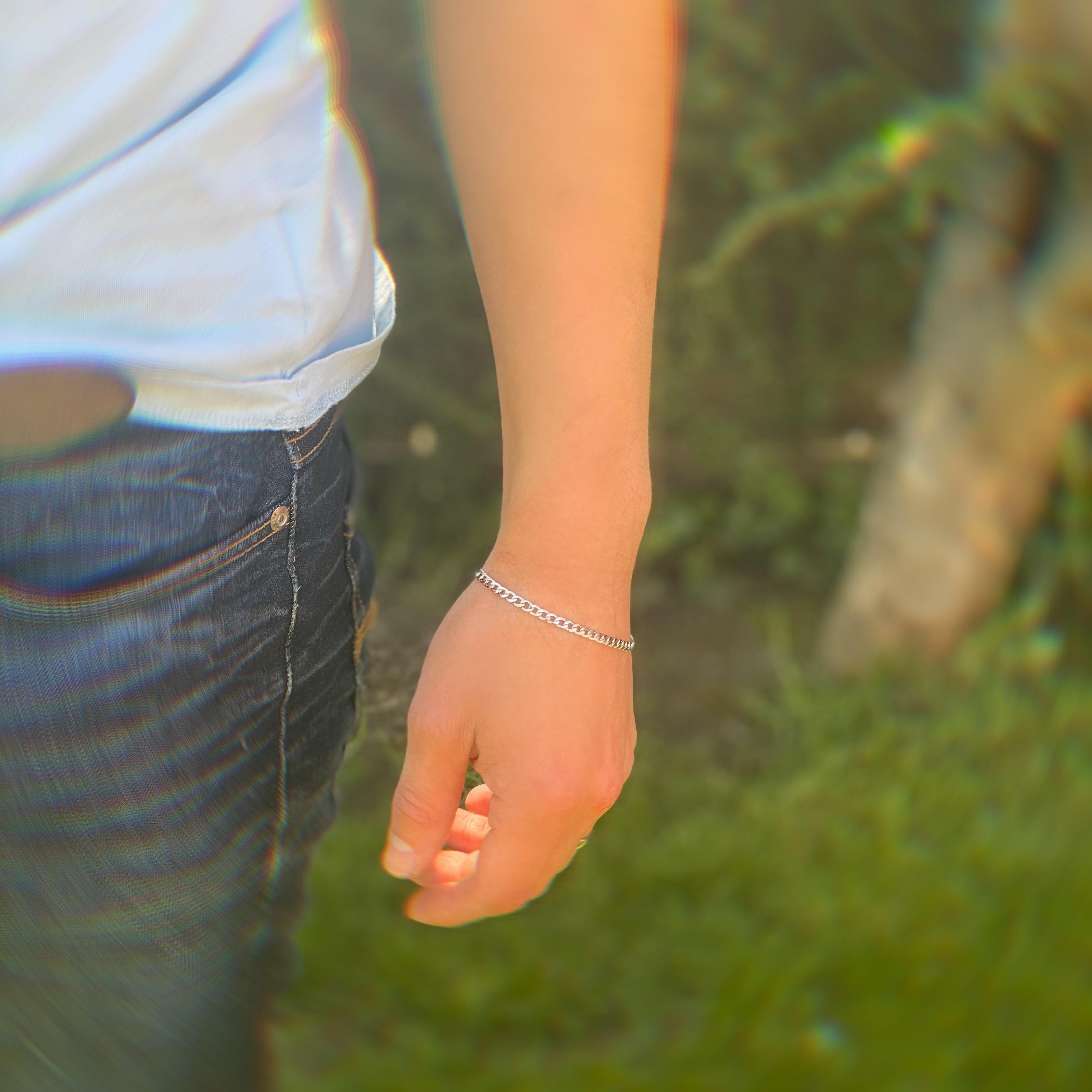 Mens skinny bracelet