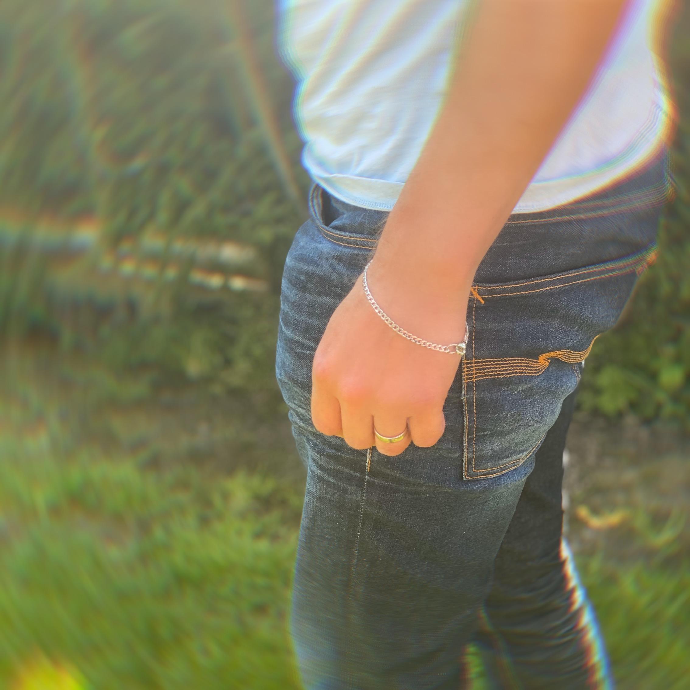 Mens thin bracelet