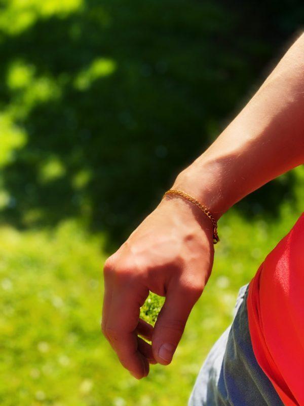 Mens Gold Bracelet Skinny