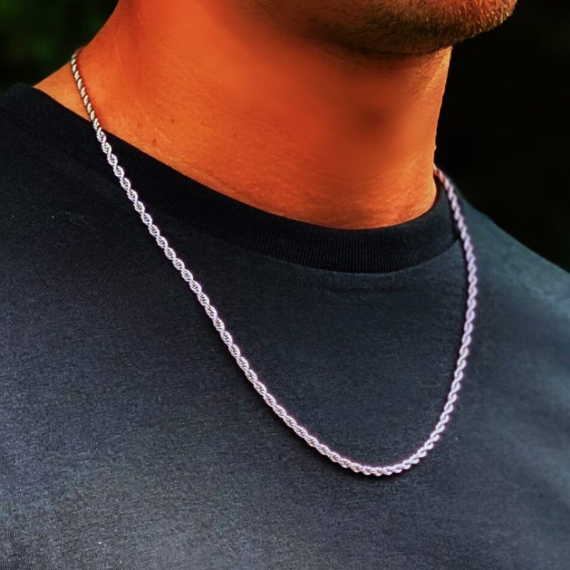 Men's Rope Twist Necklace