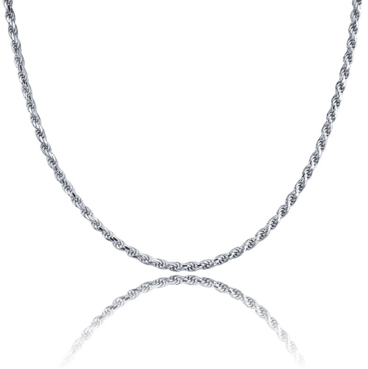 Rope Necklace Silver