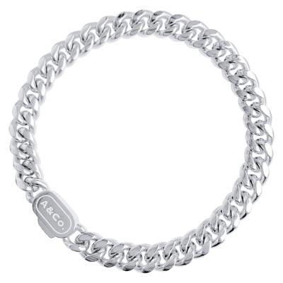 Silver Cuban Bracelet Miami