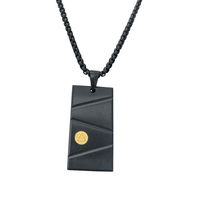 Black & Gold Pendant Necklace