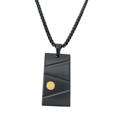 Black & Gold Pendant Necklace