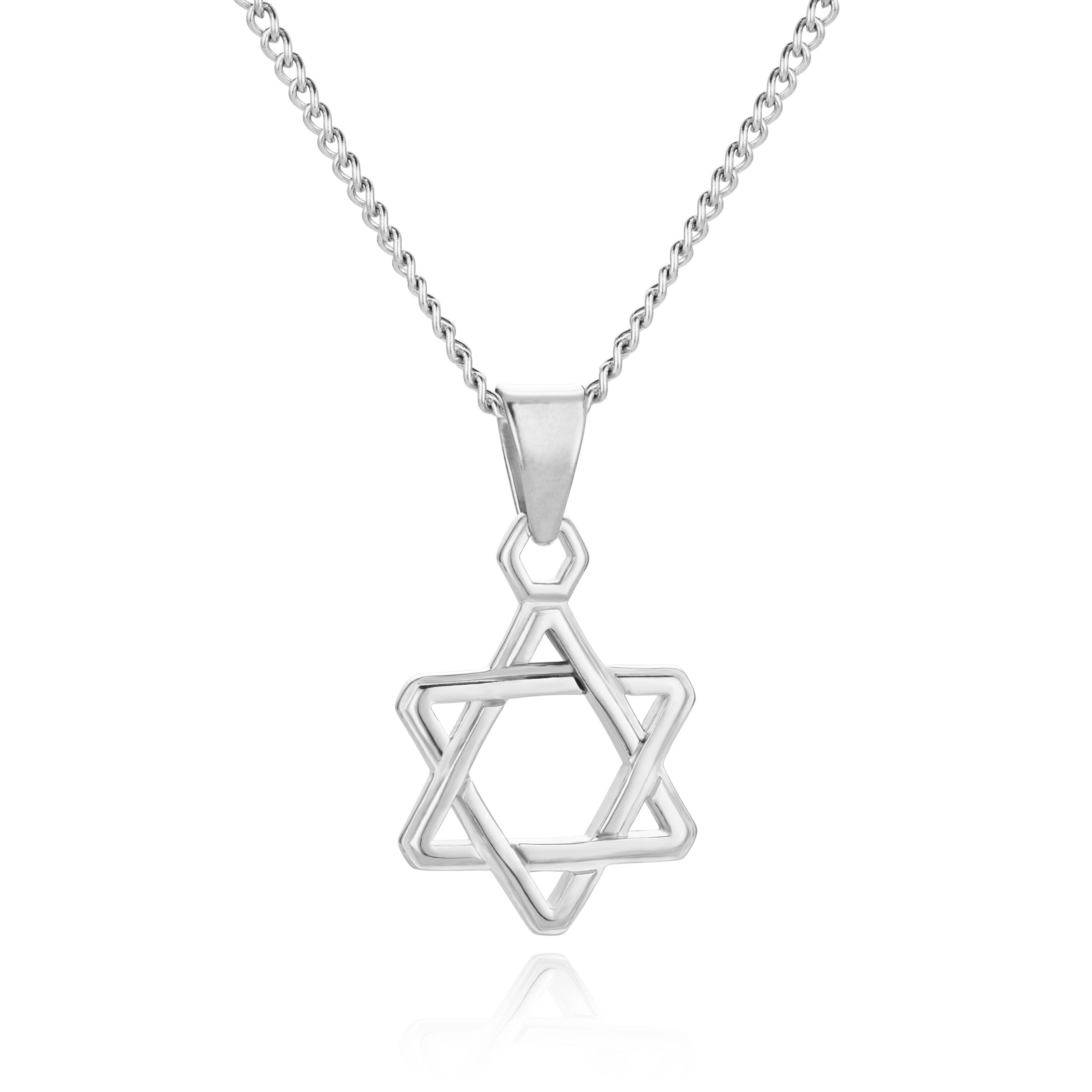 Star of David Necklace Silver