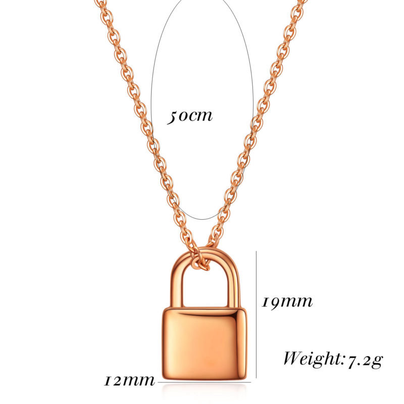 Rose Gold Padlock Necklace..