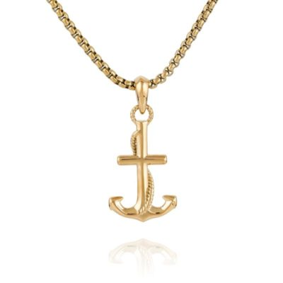Anchor Necklace Gold