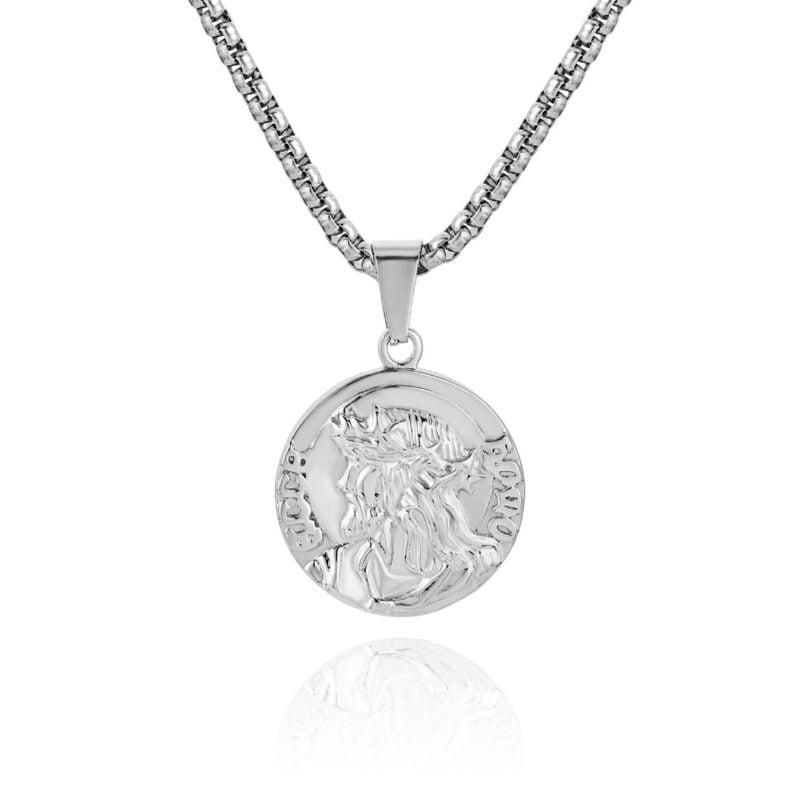 Zeus Pendant Necklace Silver