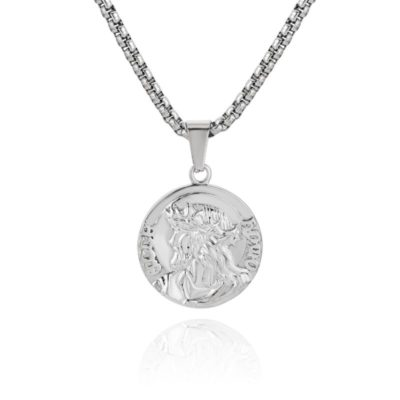 Zeus Pendant Necklace Silver