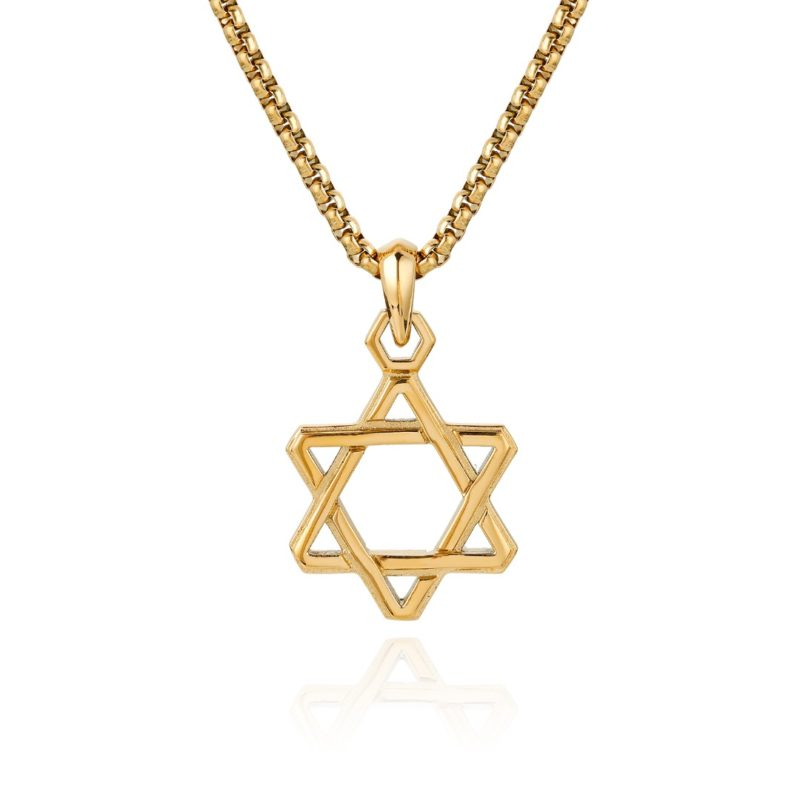 Star of David Necklace Gold