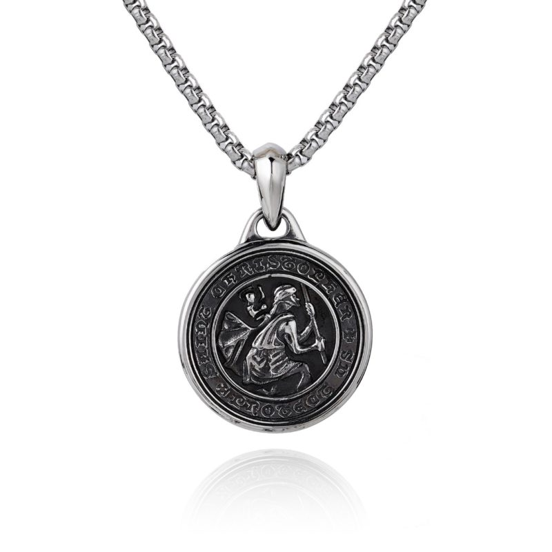 Saint Christopher Necklace Silver