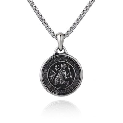 Saint Christopher Necklace Silver