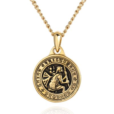 Saint Christopher Necklace Gold