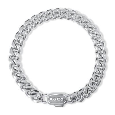 Mens Silver Bracelet Cuban