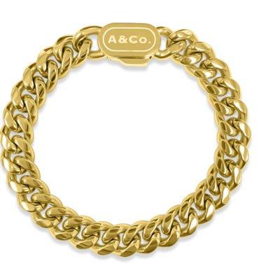 Mens Gold Bracelet Cuban