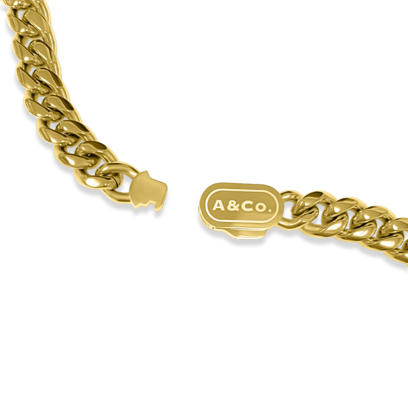 Gold Chain Necklace Cuban