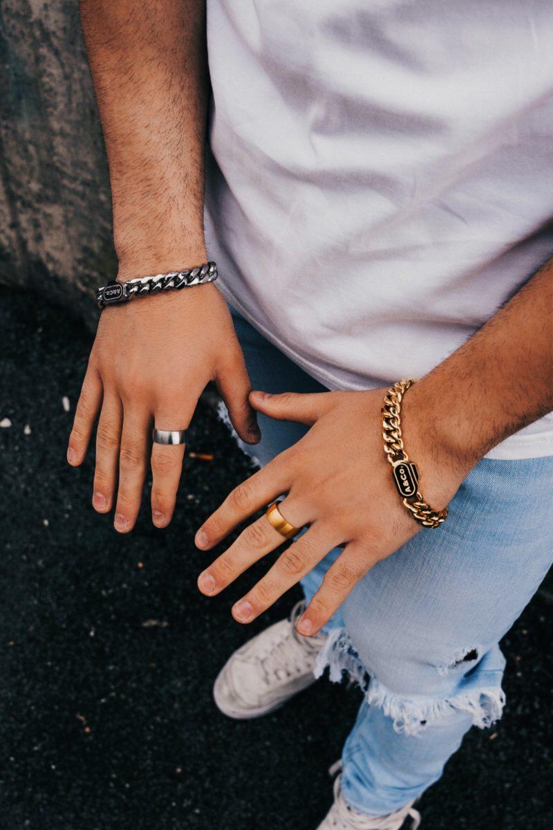 Heavy Gold & Silver Bracelets