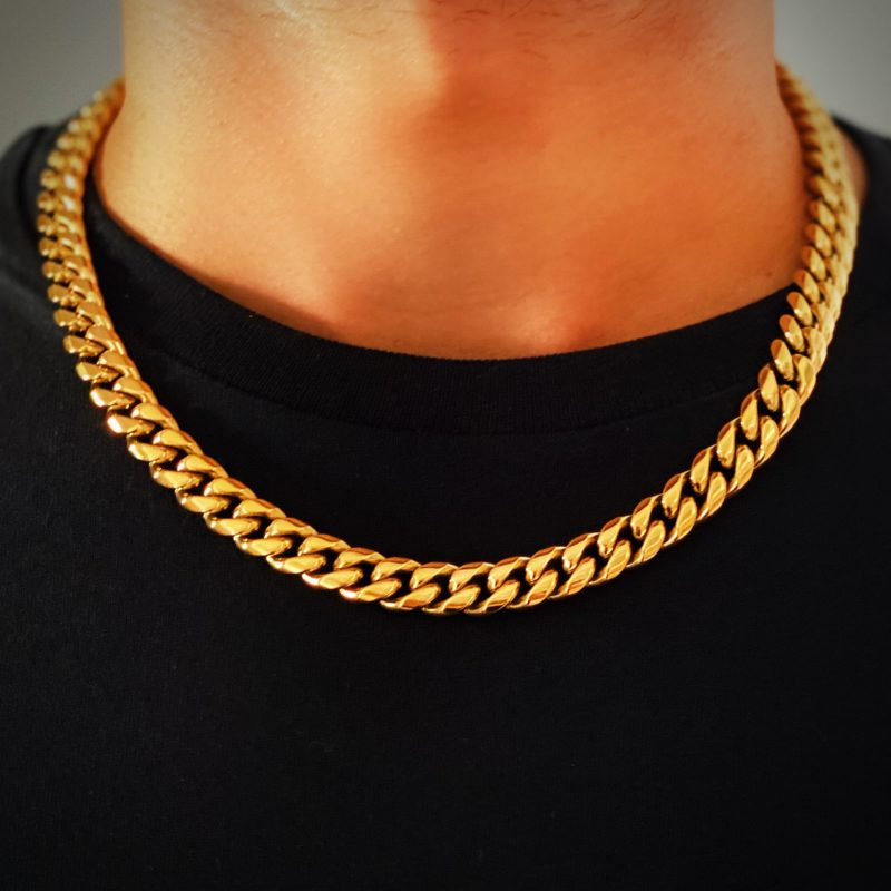 Mens Gold Chain Necklace Brooklyn