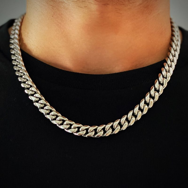 Mens Silver Chain Necklace Brooklyn