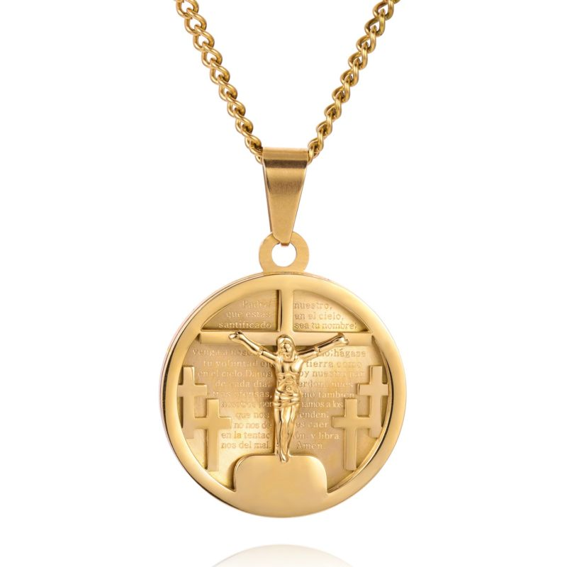 GOLD CRUCIFIX NECKLACE