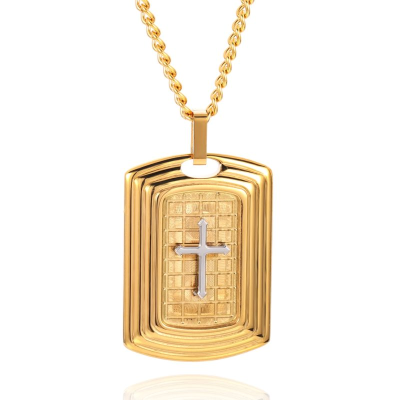 Crucifix Necklace Gold & Silver