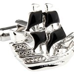 Black-and-Silver-Sailing-Ship-Cufflinks-with-Alfred-Co-Cufflinks-Box-B00ON69X96