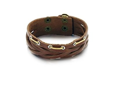 Brown-Leather-Tribal-Bracelet-with-Alfred-Co-Jewellery-Box-B017QJZ2W8