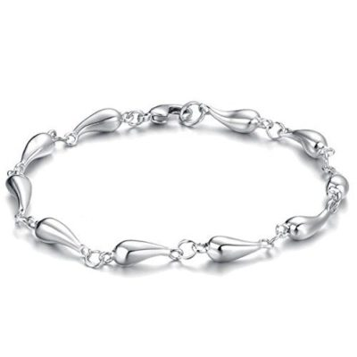 Elegant-Ladies-Silver-Tear-Drop-Bracelet-with-Alfred-Co-Jewellery-Box-8-inches-Length-B00PNPT67A