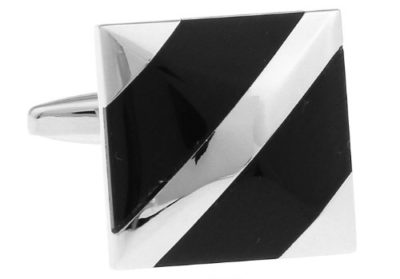Elegant-Silver-Black-Cuffliniks-with-Alfred-Co-Cufflinks-Box-B00XGQ0JPG