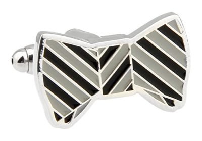 Grey-and-Black-Bow-Tie-Cufflinks-with-Alfred-Co-Cufflinks-Box-B014I5TE7C