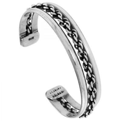 Ladies-Silver-Beaded-Bangle-with-Alfred-Co-Jewellery-Box-B00U437XYE