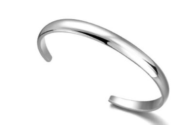 Ladies-Silver-Smooth-Bangle-Bracelet-7mm-Wide-with-Alfred-Co-Jewellery-Box-B00N6PLEIS
