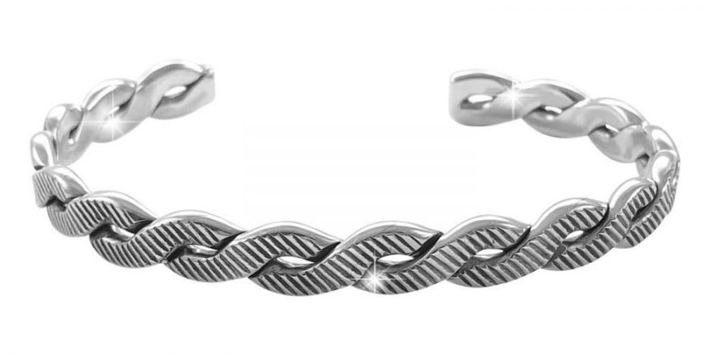 Sterling Silver Bangle Bracelet Braid Style